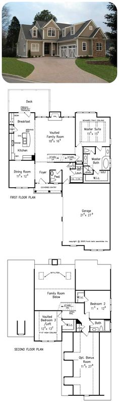 Stoneleigh Cottage House Plan A Fantastic Open Floor Unites All Of The Family Living Areas In One Unrestricted E Frank Betz