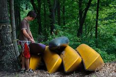 We have lots of canoe's available for use on the James River at Rockcliffe Farm