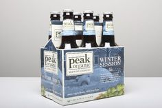 Peak Organic: Winter Session: Good hoppiness with a nice malty winter taste like a deep amber colored pale ate.