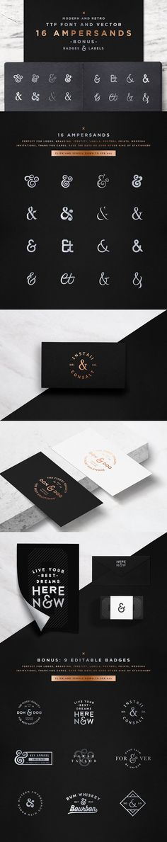 16 Ampersands Set by Spensers Family on @creativemarket