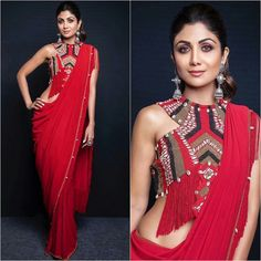 Bridesmaids Outfit Idea :- Wanderlust Fashion Hey all the Bridesmaids to be here are some fun and amazing Outfit Idea for all kind of w. Trendy Sarees, Stylish Sarees, Indian Designer Outfits, Designer Dresses, Designer Sarees, Indian Designers, Designer Wear, Saree Blouse Neck Designs, Blouse Patterns