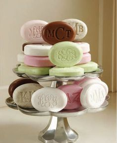 Who wouldn't want a cute soap cake?These make great house warming and hostess gifts!