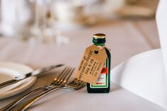 An Elegant Summer Wedding in Cheshire. Miniature wedding favour.   Image by James Andrew Photography.  Read more: http://bridesupnorth.com/2016/12/13/summer-skies-an-elegant-wedding-in-cheshire-emma-george/  #wedding