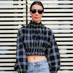 モードに華盛りファッショニスタに学ぶ最旬チェック柄スタイル Girl Fashion, Fashion Looks, Fashion Outfits, Womens Fashion, Street Chic, Street Style, Tartan Fabric, Summer Shirts, Facon