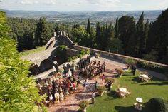 Castle in Fiesole hills, Florence, WeddingItaly