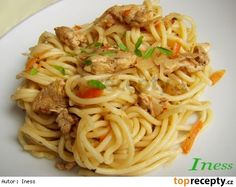 Nudle á la Čína No Cook Meals, Bon Appetit, Family Meals, Chicken Recipes, Salads, Spaghetti, Food And Drink, Pizza, Cooking Recipes