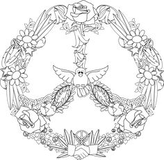 Pattern Coloring Pages, Mandala Coloring Pages, Colouring Pages, Adult Coloring Pages, Coloring Sheets, Coloring Books, Peace Crafts, Diy And Crafts, Arts And Crafts