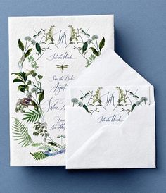 Stephanie Fishwick- botanical wedding invitations, wedding invitations with greenery, hand-drawn invitations with plants. Wedding Invitation Inspiration, Unique Wedding Invitations, Wedding Stationary, Wedding Paper, Wedding Cards, Diy Wedding, Handmade Wedding, Wedding Decor, Wedding Stuff