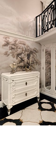 White sideboard. Luxury sideboard.  Luxury furniture. Interior design, interiors, decor. Take a look at: www.bocadolobo.com