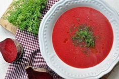 Polévka z červené řepy Kitchen Stories, Thai Red Curry, Soup Recipes, Cantaloupe, Salsa, Fruit, Ethnic Recipes, Soups, Food