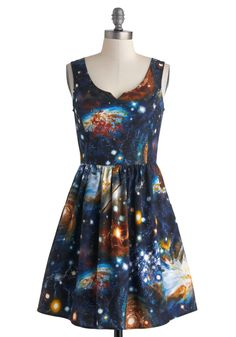 Heart and Solar System Dress | Mod Retro Vintage Dresses | ModCloth.com