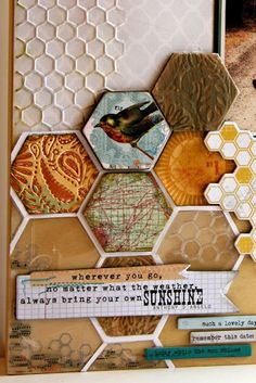 hexagon design from the Sizzix blog