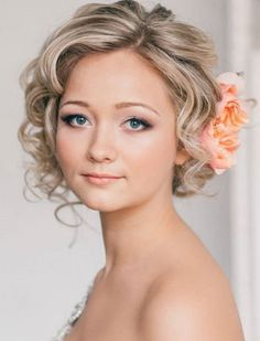 Wavy Updo - 19 Gorgeous Wedding Hairstyles For Medium Hair - EverAfterGuide