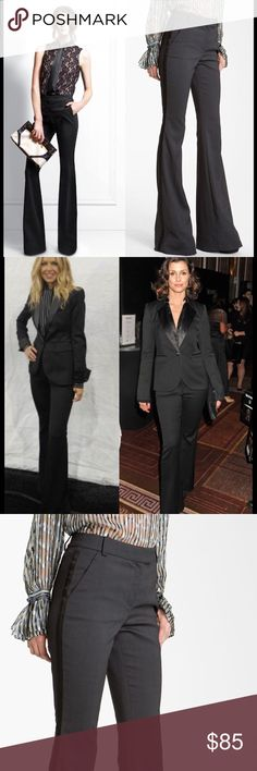 Rachel Zoe tuxedo pants Sz 8 black Black and steel grey tuxedo pants Rachel Zoe Pants Trousers
