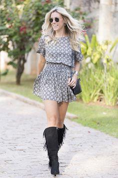 Nati Vozza do Blog de Moda Glam4You com Look do dia Boho lindo e super confortável