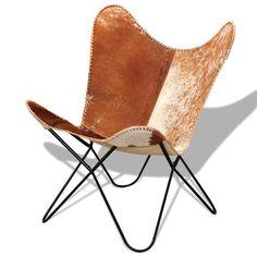 Die Rückenlehne und der Sitz dieses klassischen Schmetterlingstuhls aus echtem Rindsleder sind leicht geschwungen, was dafür sorgt, dass Ihr Körper für maximalen Komfort hinreichend unterstützt wird. | eBay!