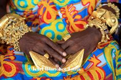 Africa | The hands of the chief of Nkoranza covered with golden rings and bracelets. Ghana | © Karl Blanchet