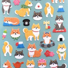 Now selling: Dog Stickers - Japanese Washi Paper Stickers - Chiyogami - Green Tea - Rice Ball - Plum Blossom - D... http://ift.tt/2q8WDLN
