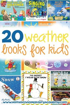 20 Outstanding Weather Books for Preschool and Up Here – Science Time Weather For Kids, Weather Activities For Kids, Weather Unit, Weather Book, Preschool Weather, Weather Science, Seasons Activities, Book Activities, Homeschool Books