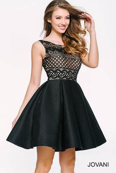 Black Fit and Flare Sleeveless Dress 45155
