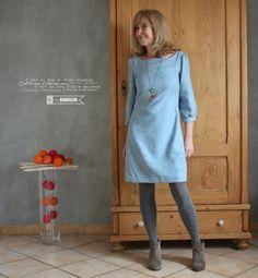 la petite robe - Vanessa Pouzet Blouse, Shirt Dress, Couture Tops, Sewing, Shirts, Dresses, Fashion, Big Sizes, Ideas