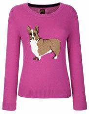 """Joules """"Monty"""" knitted Jumper...I am calling it the """"Gracie"""" after my Corgi...$109"""