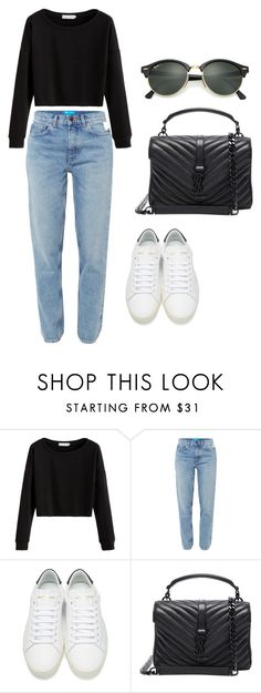 """-"" by fernanda-milla on Polyvore featuring M.i.h Jeans, Yves Saint Laurent y Ray-Ban"