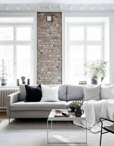 White Walls Aren't Just for Ice Queens — House of Valentina Living Room Inspiration, Interior Inspiration, Home Interior, Interior Design, Interior Styling, Living Room Decor, Living Spaces, Scandinavian Home, Design Case