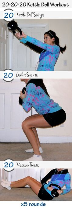 20-20-20 Kettle Bell Workout - Kettle Bells are the best work out!