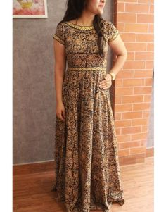 Gorgeous Black Kalamkari Gown