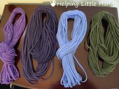 Pieces by Polly: No-Sew T-Shirt String Infinity Scarves - Great Gift Idea