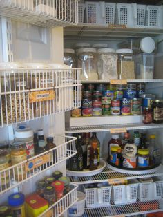 Kitchen Organization & Pantry Organization: Organized elfa pantry from www.tv - new use for an old wood ikea lazy susan Kitchen Organization Pantry, Pantry Storage, Kitchen Pantry, Kitchen Hacks, Organization Hacks, Kitchen Storage, Pantry Ideas, Organization Ideas, Kitchen Ideas