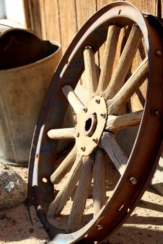 Wagon Wheels are used in all kinds of decorative ways