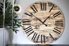 Handmade wall clock. Made from spalted maple. Free shipping Handmade Wall Clocks, Spalted Maple, Kiln Dried Wood, Types Of Wood, Coloring, Construction, Leaves, Free Shipping, Beautiful