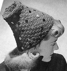 FREE crochet pattern for a Hat with Various Trimmings made available by Free Vintage Crochet.