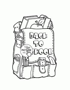 Backpack For School Coloring Page For Kids Printable Free - school backpack coloring page