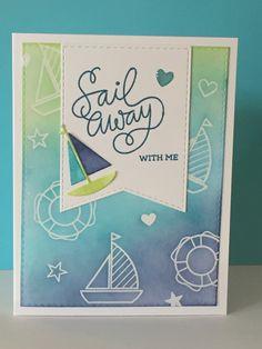 #SSSFAVE- Sailing stamp set and die