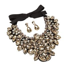 Jewellery Bundle Double Face Floral Style Scarf And Necklace Set For Women
