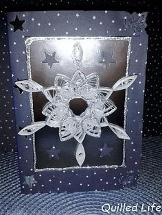 Quilled Life: Śnieżynka #quilling #christmas #diy #christmascard #handcraft