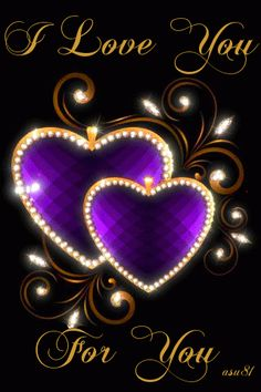 Imagen de corazón brillante con movimiento I Love You, For You