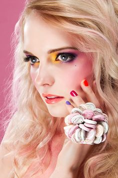 Food Inspired Make-up & Hair Designs by Karla Powell, via Behance