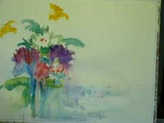 Awesome LOOSE technicque!  Floral Impressions in Watercolor 0001 by Millie Gift Smith
