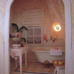 Bathroom by Annemarie - love the rug and the rubber ducks