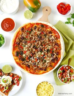 Quick & Easy Mexican Tortilla Pizzas - revamp your old classic pizza recipe with a  few Mexican twists for a healthier party appetizer or snack!