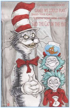 Dr. Seuss The Cat In The Hat Poster Print by by ChrisOzFulton