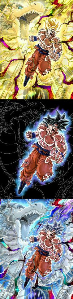 Goku's Dragon Fist in different forms Dbz, Akira, Dragon Ball Z, Tensa Zangetsu, Z Warriors, Goku Ultra Instinct, Ball Drawing, Epic Characters, Music Books