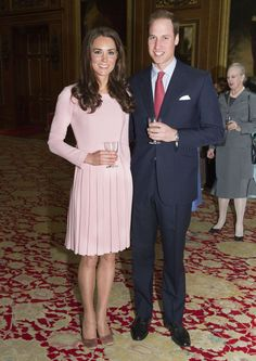 The Duke and Duchess of Cambridge at the Queen's Diamond Jubilee lunch with foreign royalty
