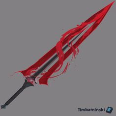 Anime Weapons, Sci Fi Weapons, Weapon Concept Art, Armor Concept, Fantasy Sword, Fantasy Weapons, Arte Zombie, Desenhos Cartoon Network, Cool Swords