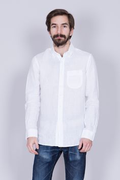 Linen shirt from Danish brand Knowledge Cotton Apparel︱100% Organic Cotton︱ www.grandpa.se︱ Scandinavian fashion and home decor︱ Shipping to Europe and the US