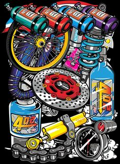 Graffiti Wallpaper Iphone, Galaxy Wallpaper, Cartoon Wallpaper, Logo Sticker, Sticker Design, Vector Design, Logo Design, Thai Design, Motorbike Design